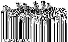 """Zebra Barcode"" - art by Sassan Filsoof, via Saatchi Art; Herd of zebras standing as barcodes against a vintage map of Africa: Nature is not for sale. Vintage Graphic Design, Graphic Design Print, Zebras, Barcode Art, Barcode Design, Zebra Art, Animal Art Prints, Africa Art, Street Art"
