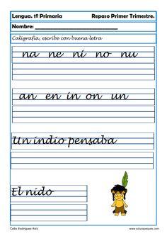 Recursos educativos: Fichas de lengua para Primero de Primaria Hoy comenzamos una serie de fichas de Lengua para repasar en