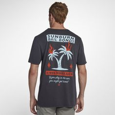 da55d6fb0e Hurley Bail Men s T-Shirt - Black Hurley