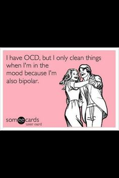 This totaly describes me XD i have ocd without the constant rituals