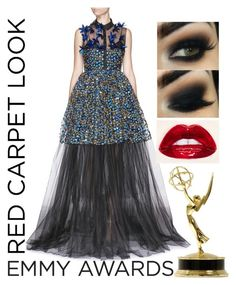 """Simply Emmy..."" by bee4735 ❤ liked on Polyvore featuring Delpozo and emmyredcarpet"