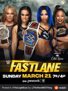 Wwe Ppv, Road To Wrestlemania, Nia Jax, Wwe Pay Per View, Old Spice, Sasha Bank, Wwe Womens, Professional Wrestling, Evolution