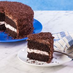 """GF Chocolate Mocha Cake with Mocha Chocolate Buttercream ... a great cake for a special celebration ... from this blog, """"Gluten Free Canteen""""."""