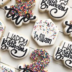 I love any excuse to use sprinkles. There is something about rainbow hundreds and thousands that bring back so much nostalgia. Cut Out Cookies, Sugar Cookies, Custom Cookies, Cookie Designs, Edible Art, Decorated Cookies, Royal Icing, Cookie Decorating, Food Art