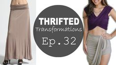 Thrifted Transformations | Ep. 32 (Asymmetrical Draped Skirt)