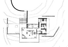 the Lanaras weekend house by Architect Nicos Valsamakis.The structure is one of great importance pertaining to Greek architecture during the Classical Athens, Small Floor Plans, Weekend House, Architect House, Mid Century House, House Layouts, Amazing Architecture, Planer, Mid-century Modern