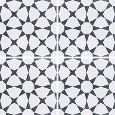 White Pattern tile with black stars This top-selling tile has an excellent anti-slip rating thus making it especially suitable for bathroom floors or outdoor patios. See the lifestyle shot on our website Deco Cuban star by Decobella tiles - South Africa Small Shower Room, Small Showers, Outside Tiles, Outdoor Tiles, Outdoor Patios, Terrazzo Tile, Carpet Decor, Statement Wall, Vintage Tile