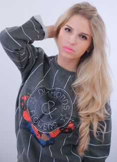 DIAMONDS & FLOWERS: http://www.glamzelle.com/collections/whats-glam-new-arrivals/products/diamonds-roses-striped-sweatshirt