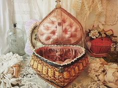 Gorgeous sewing box basket