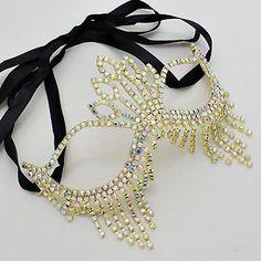 Rhinestone Crystal Masquerade Mask- Masquerade Wedding - Gold on Etsy, $27.95