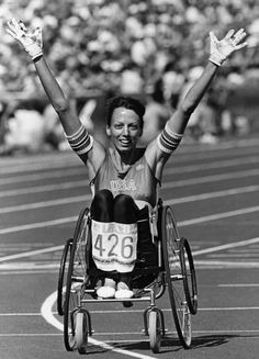 Sharon Hedrick of U.S.A. set a world record for women's 800-meterwheelchairrace.  Sharon won the gold medalin the 800m wheelchair race at both the 1984 and 1988Olympic games, setting world records both times. Shealso won six gold, four silver, and two bronze medals as a Paralympian in athletics, swimming, and basketball. Before she competed in the Olympics and Paralympics, Sharon was thefirst female wheelchair athlete to enter and complete the Boston Marathon (1976)