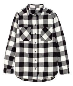 Flannel Shirt | Red | Ladies | H&M US - medium