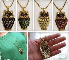 """$12.99 Antique Gold Finished """"Vintage"""" Owl Necklace  at VeryJane.com"""