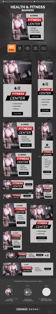 Health & Fitness Banners Template PSD