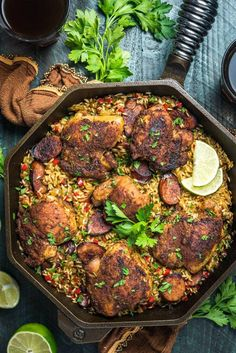 One Pot Cajun Chicken and Rice. This quick and delicious one pot dinner features tender Cajun chicken, andouille sausage, vegetables, and rice. Cajun Recipes, Rice Recipes, New Recipes, Salad Recipes, Chicken Recipes, Cooking Recipes, Healthy Recipes, Cajun Food, Dinner Recipes
