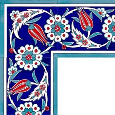 Turkish Art, Turkish Tiles, Tile Patterns, Textures Patterns, Turkish Pattern, Tuile, Floral Drawing, Ceramic Figures, Colorful Pillows