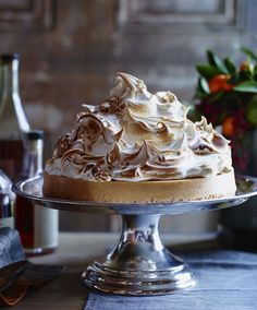 Beautiful dessert for that special holiday table...Sweet Potato Cheesecake with Marshmallow Meringue