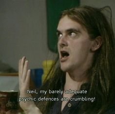 Love how Neil's only hippy friend is also called Neil. Rik Mayall, Young Ones, Having A Crush, Anarchy, Tv Shows, Hippy, Tv Series