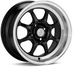 Enkei J-Speed Classic Line 15x8 25mm Offset 4x100 Bolt Pattern Black Wheel