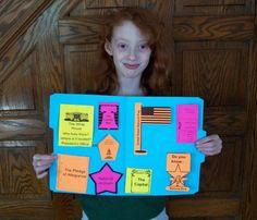 United States Symbols Mini-Lapbook - The Curriculum Choice Kindergarten Social Studies, Teaching Social Studies, Teaching History, Classroom Activities, Classroom Ideas, Future Classroom, Holiday Homework, Patriotic Symbols, File Folder Activities