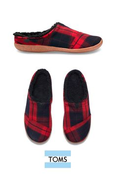 0a45826eefe Red Plaid Men s Berkeley Slippers. Red And Black ...