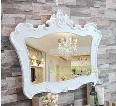 Adornment mirror. Wall hang creative beauty parlor mirror. Bathroom mirror.