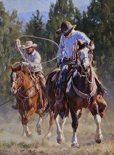 """""""Brushpoppers"""" by Jason Rich (Cowboy Artist)"""