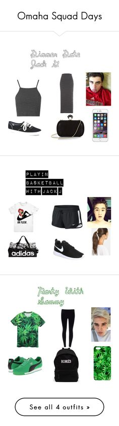 """Omaha Squad Days"" by jecarla ❤ liked on Polyvore featuring Topshop, Keds, DVF, NIKE, Tasha, adidas, Puma and Samsung"