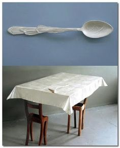 Wiebke Meurer spoon and silver table cloth