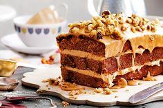 Recipe for coffee walnut cake - Cake recipes Coffee And Walnut Cake, Coffee Cake, Sweet Coffee, Sweet Recipes, Cake Recipes, Dessert Recipes, Pasta Recipes, Yummy Recipes, Coffee Recipes