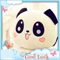 Buy HOT Cute Plush Doll Toy Stuffed Animal Panda Pillow Quality Bolster Gift at Wish - Shopping Made Fun Plush Dolls, Doll Toys, Pet Toys, Panda Stuffed Animal, Stuffed Animals, Stuffed Toy, Kawaii Plush, Cute Plush, Panda Lindo