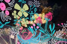 Charity Shop Display Ideas, Christmas Illustration Design, Window Markers, Posca Art, Window Graphics, Art N Craft, Window Art, Marker Art, Arts And Crafts Projects