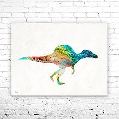 Spinosaurus 3 Dinosaur Watercolor Print, watercolor painting, watercolor art, home decor, watercolor animal, Kids Wall Art, Dinosaur art. Spinosaurus 3 Dinosaur Watercolor Print, watercolor painting, watercolor art, home decor, watercolor animal, Kids Wall Art, Dinosaur art, My prints are made in my own art studio by me, using Epson Pigment Inks, which are tested and guaranteed not to fade for at least 100+ years and fine art watercolor paper. I use Epson best wide format printers! If you...