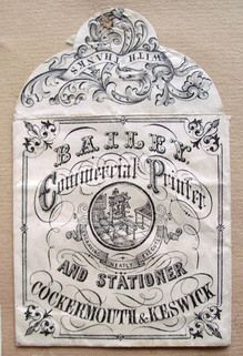 A lovely custom of the past: Among the refinements of middle-class Victorian shopping was the giving of change in paper packets. Article in Chamber's Edinburgh Journal (15 October 1853).  This site shows a small collection of change packets. Beautiful and much better than being handed a pile of dirty coins