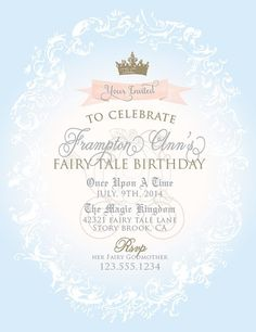 Cinderella Princess Party Collection PRINTABLE by ItsyBelle