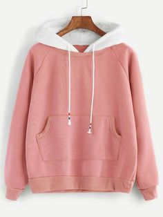 To find out about the Raglan Sleeve Pocket Decoration Hooded Sweatshirt at SHEIN, part of our latest Sweatshirts ready to shop online today! Stylish Hoodies, Fashion News, Fashion Outfits, Ladies Dress Design, Hooded Sweatshirts, Korean Fashion, Casual, Sleeves, Sweaters