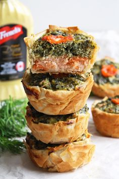 Mini Salmon Spinach Quiches make a perfect addition for your Easter brunch #FrenchsEaster #ad