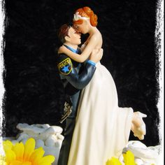 Police wedding cake topper!! This is a must!!!
