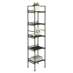 Found it at Wayfair - Tall Shelving Unit in Black