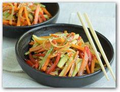 Wok de vegetales bajas calorías