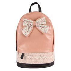 Amazon.com: Egelbel Women Leather Cute Polka Dot Bowknot Backpack Leisure Schoolbags: Shoes