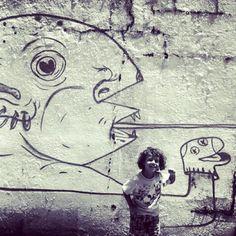 street art #puertorico #instagram #iphonegraphy #kids #curlyhair #fun #myson #memory #playing #happiness #instagram_kids #fatherandson #oldsanjuan #artist #draw #painting #wall #sketch #streetart #graffiti  (Taken with Instagram at El Viejo San Juan)