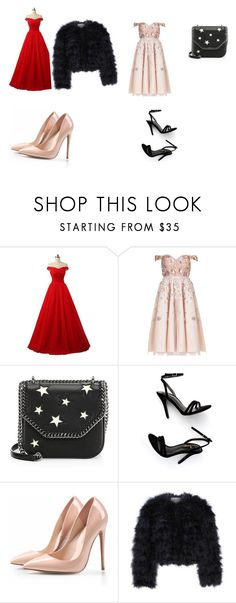 """Prom day"" by diamondreddick ❤ liked on Polyvore featuring Aidan Mattox, STELLA McCARTNEY, LULUS and Chelsea28"