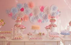 Sweet Pink 1st Birthday Party