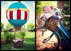 DIY hot air balloon for photo prop - must make this  for summer photos of savvy :)