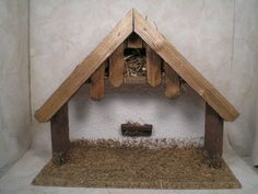 Wooden German Creche for Nativity Manger Christmas Germany Wood Rustic | eBay