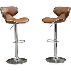 Harlow Adjustable Height Swivel bar stool (Set of 2)