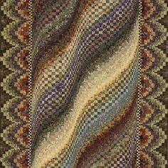 Rolling Prairie Bargello Quilt ~ designed by Mabeth Oxenreider. I don't think I've ever seen a bargello boarder.