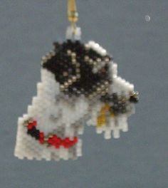 Beaded Parson Jack Russell Terrier by DsBeadedCrochetedEtc on Etsy, $18.00