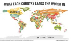What Each Country Leads the World In - Most 36 maps that will make you see the world in completely new ways
